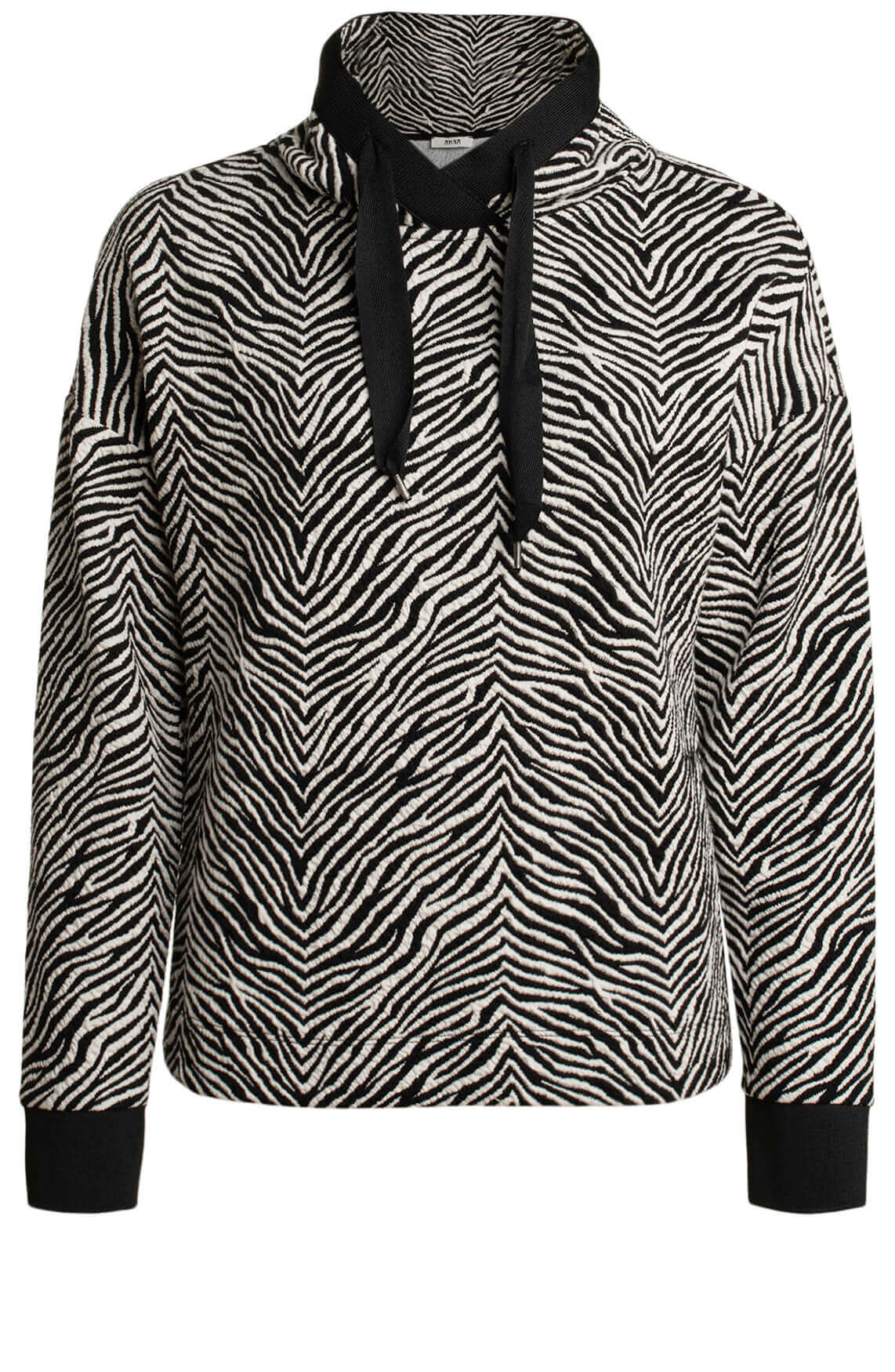 Anna Dames Zebra sweater wit