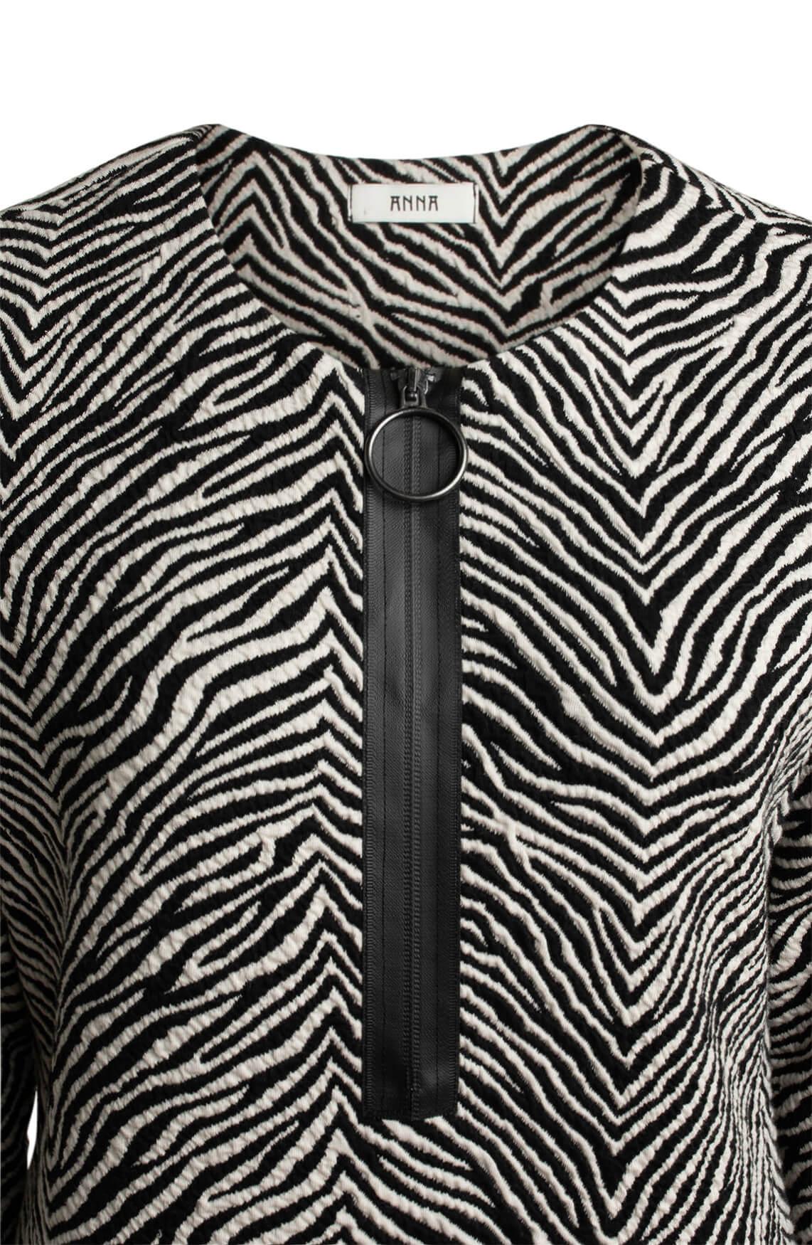Anna Dames Zebra jurk wit