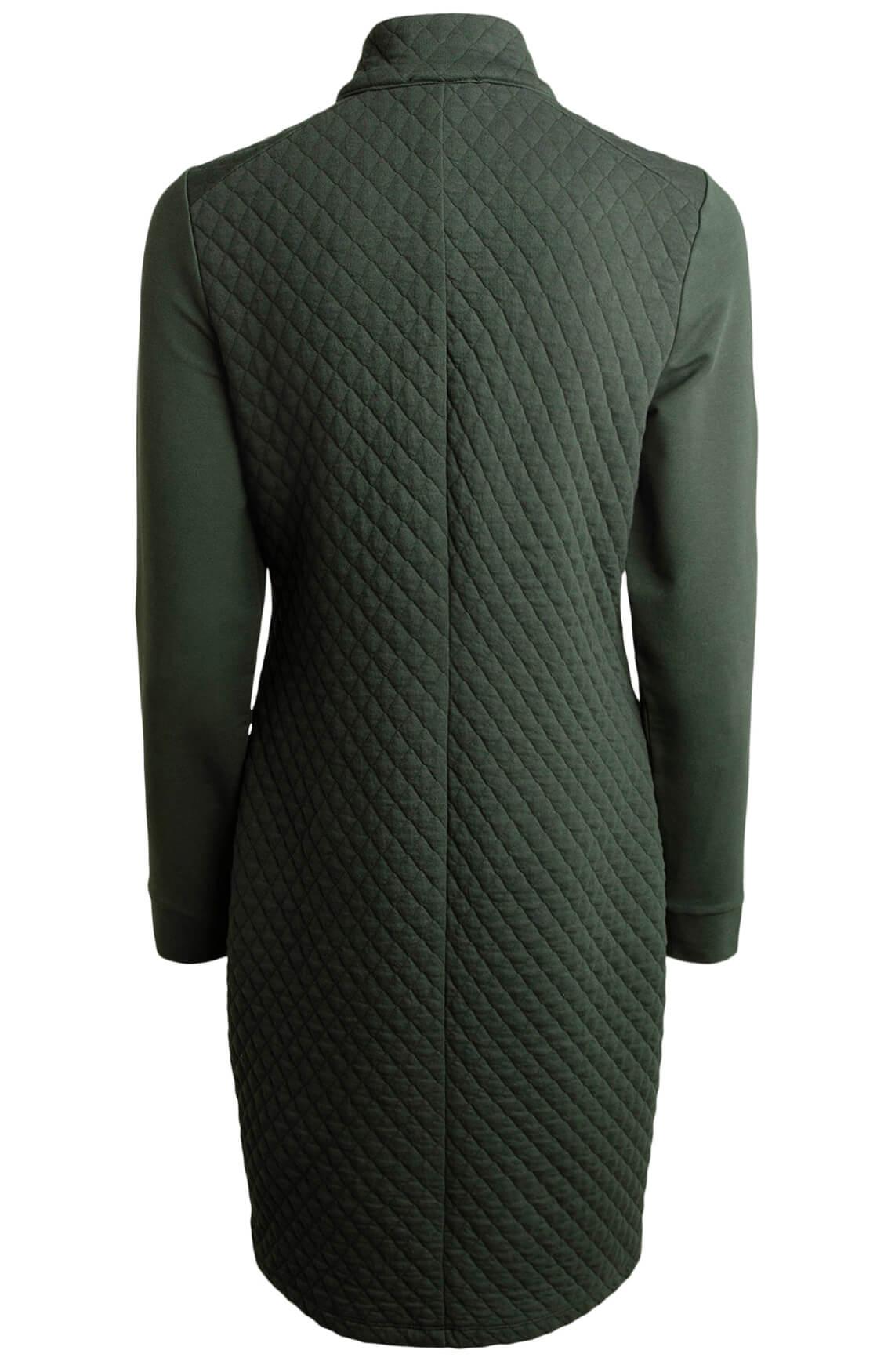 Anna Dames Gestepte jurk groen