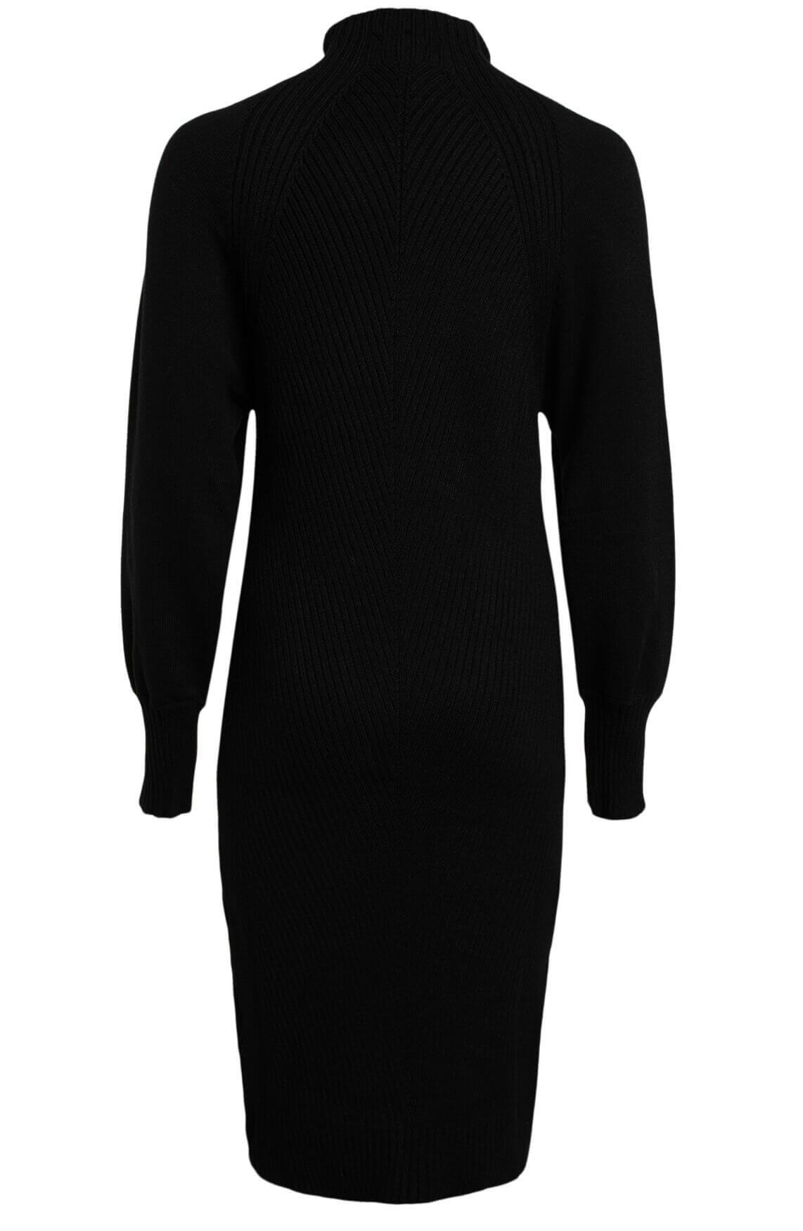 Anna Dames Fijngebreide jurk zwart