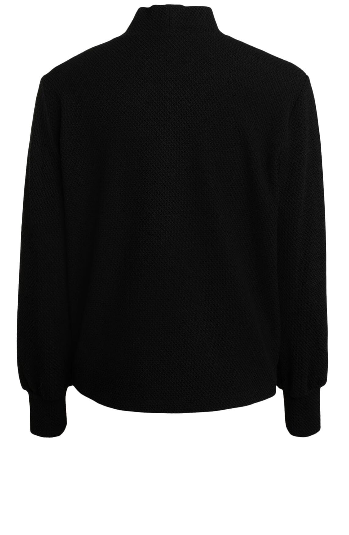 Anna Dames Sweater met knopen zwart