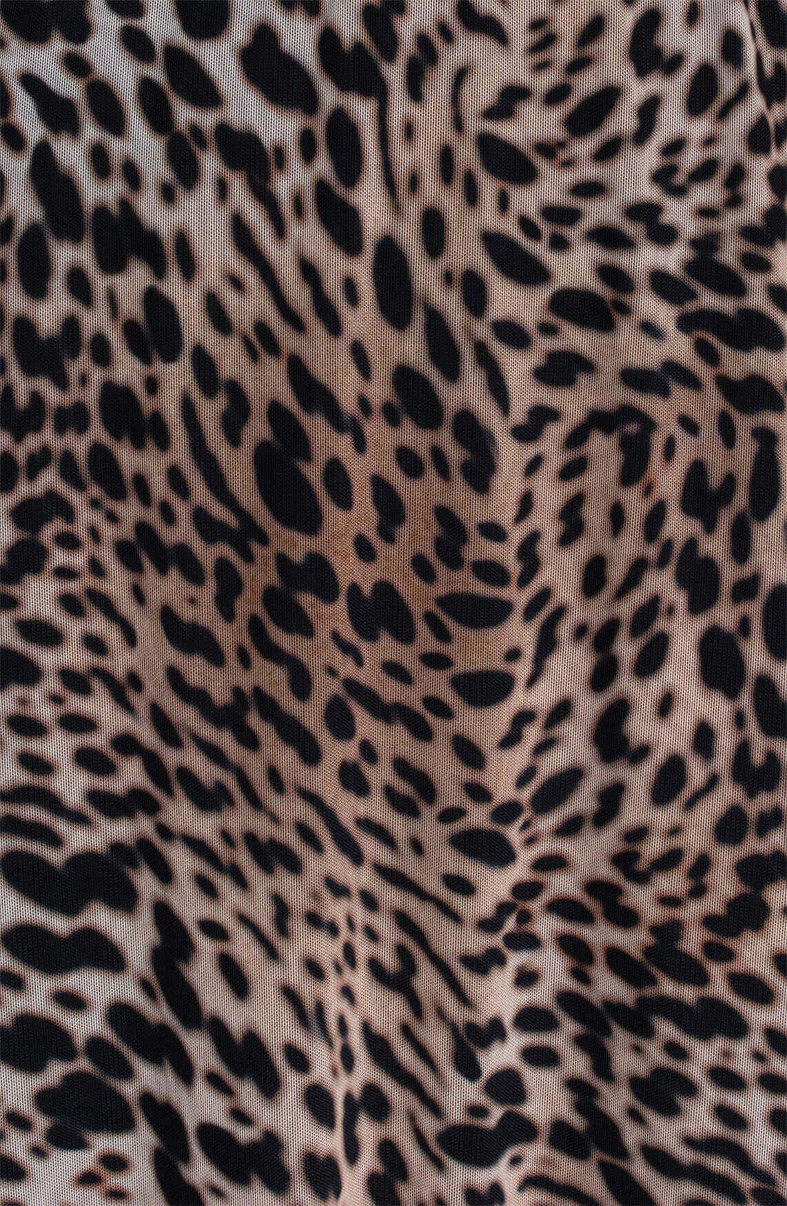 Anna Dames Mesh rok met animalprint Bruin