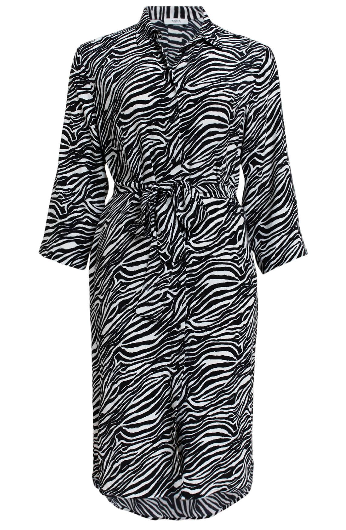 Anna Dames Zebra jurk zwart