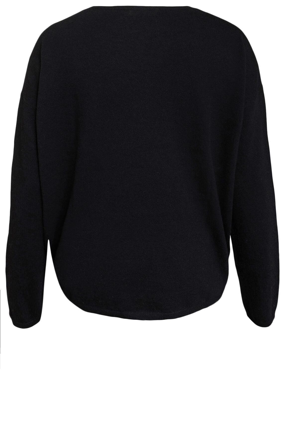 Anna Dames Wollen pullover zwart