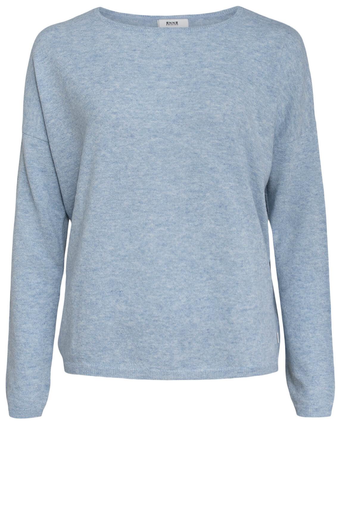 Anna Dames Wollen pullover Blauw