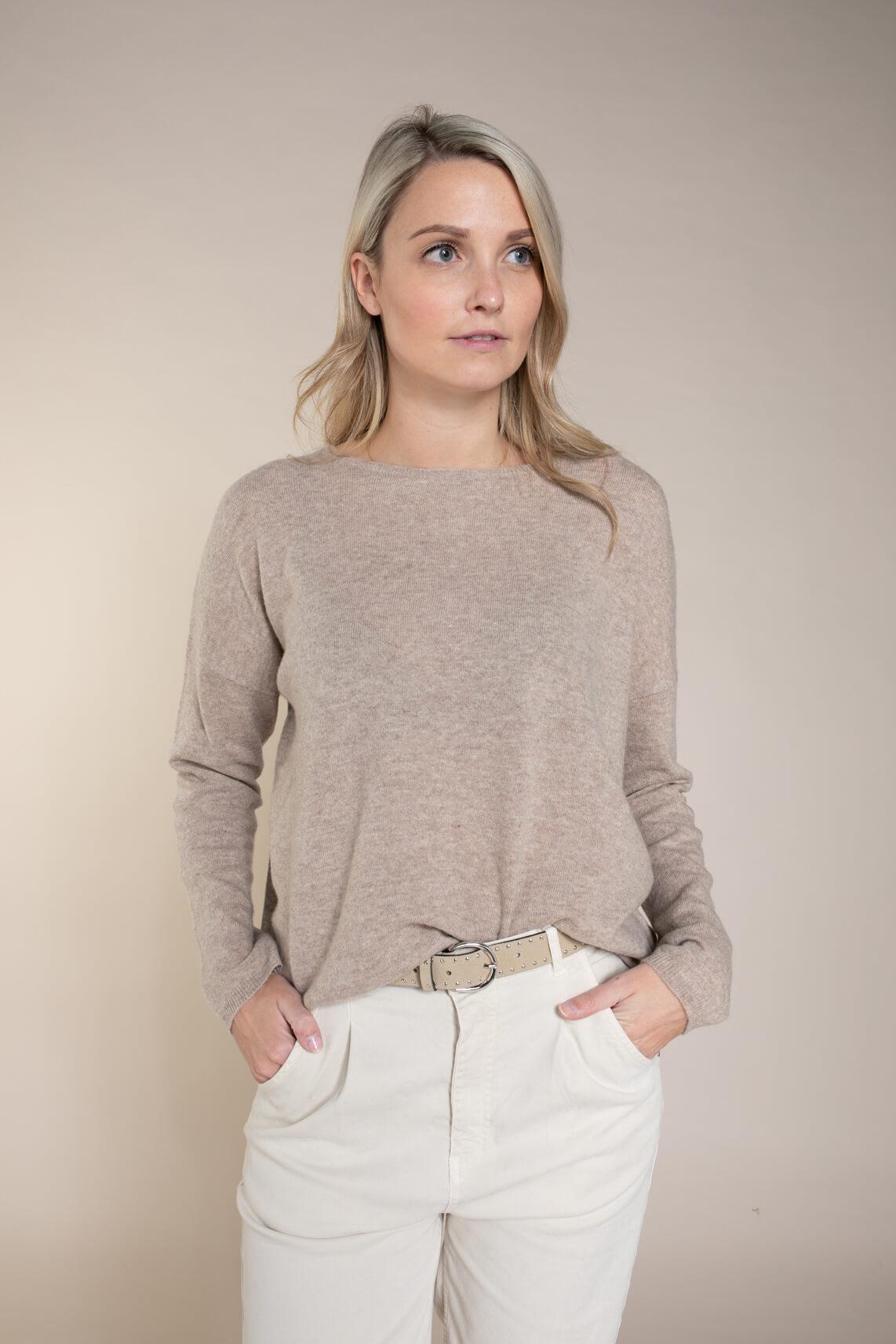 Anna Dames Wollen pullover Bruin