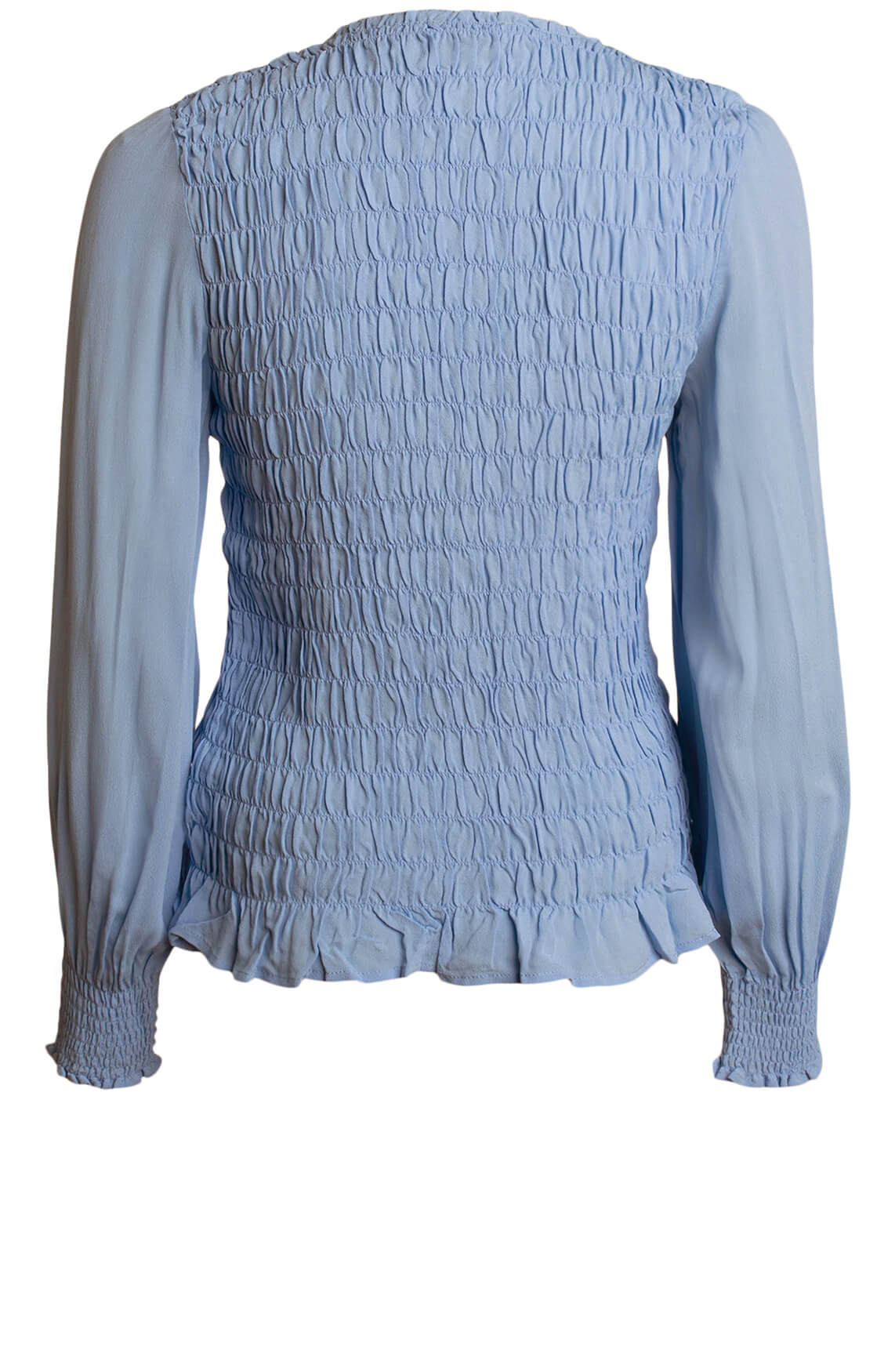 Anna Dames Gesmokte blouse Blauw