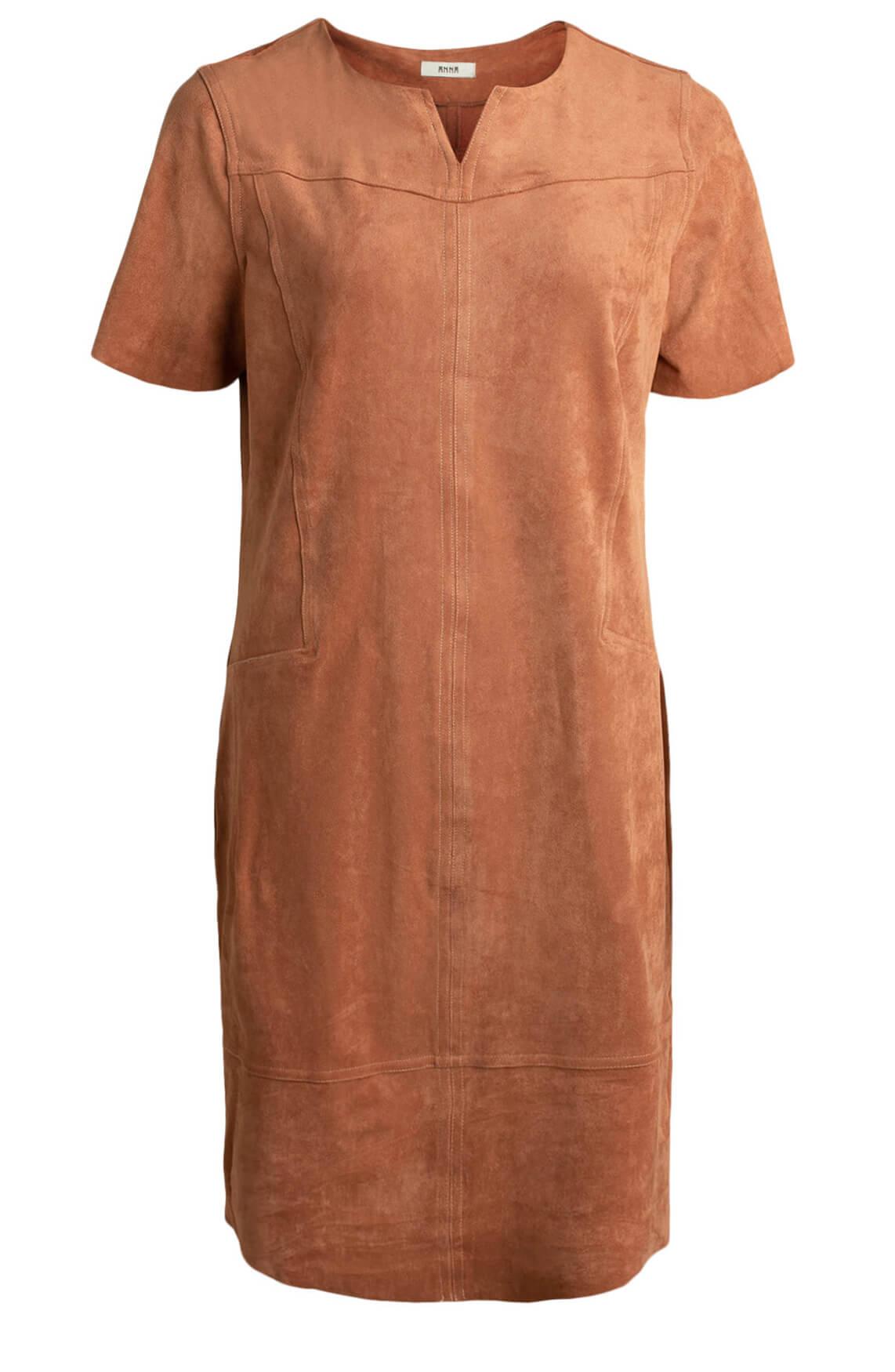 Anna Dames Suède jurk roze