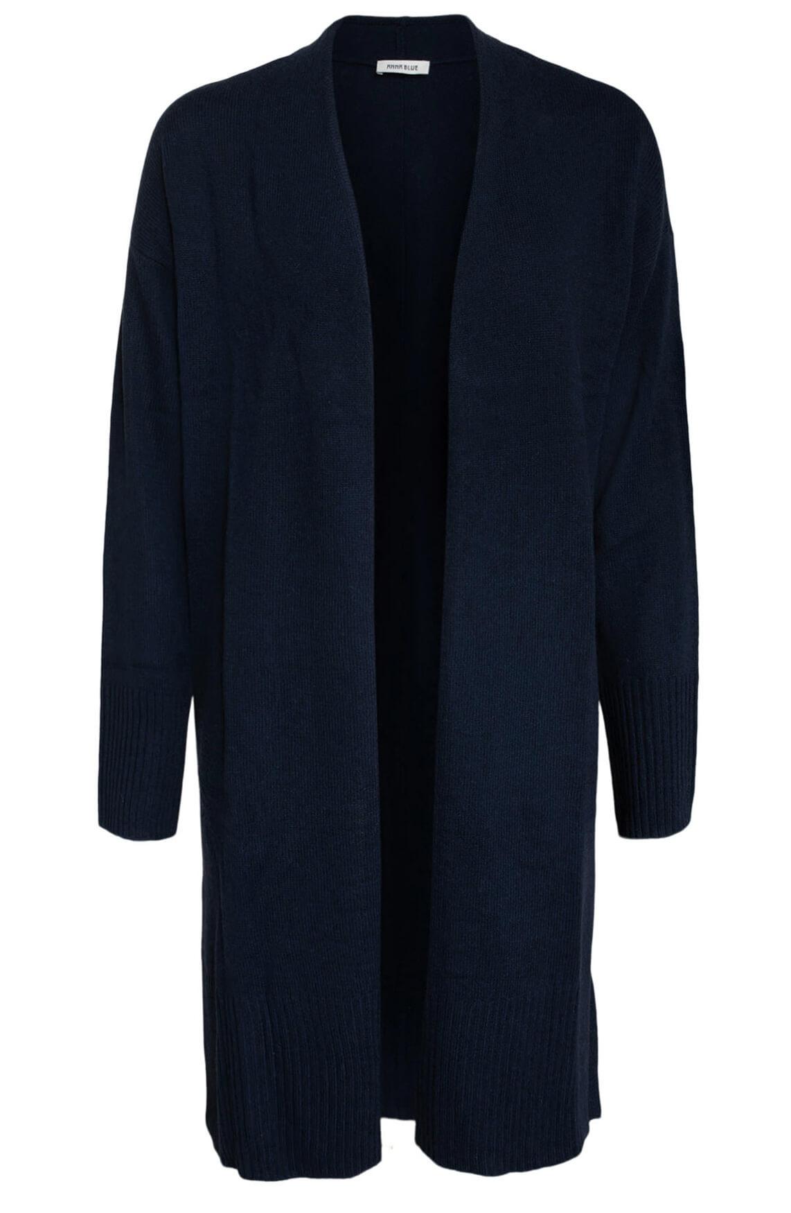 Anna Blue Dames Wollen vest Blauw