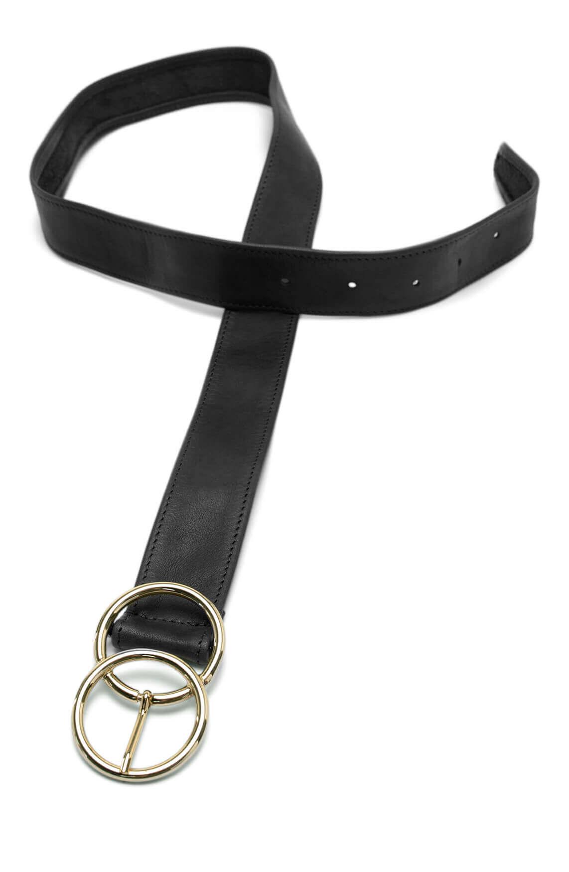 Legend Dames Ceintuur met dubbele ring Zwart