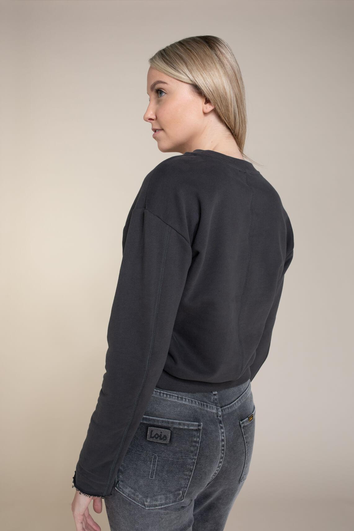 Anna Blue Dames Washed sweater zwart