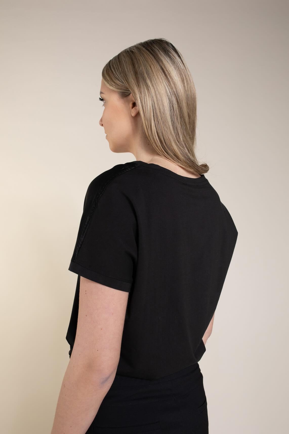 Emotions Dames Zijde shirt zwart