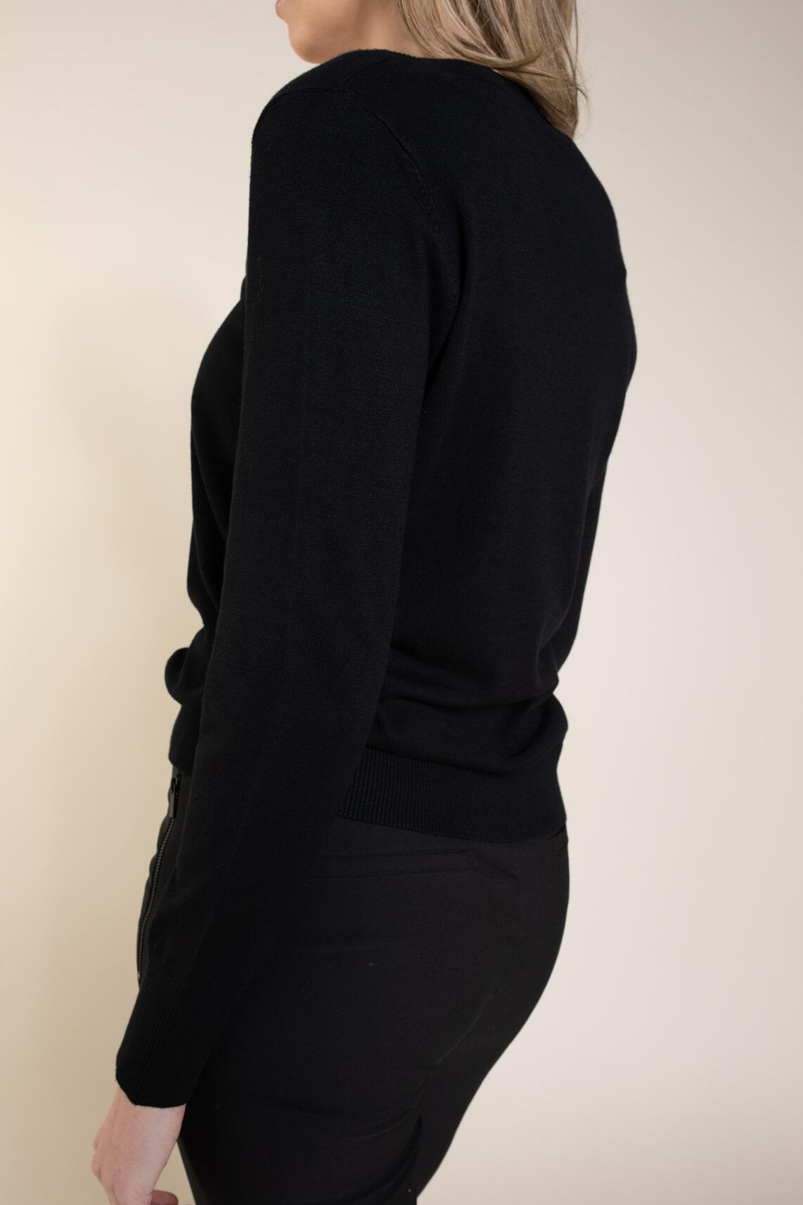 Emotions Dames Shirt met kant zwart