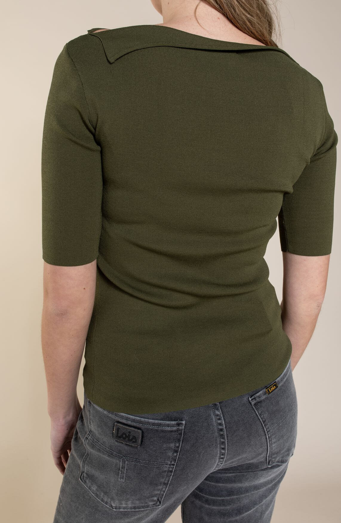 Emotions Dames Shirt met boothals groen