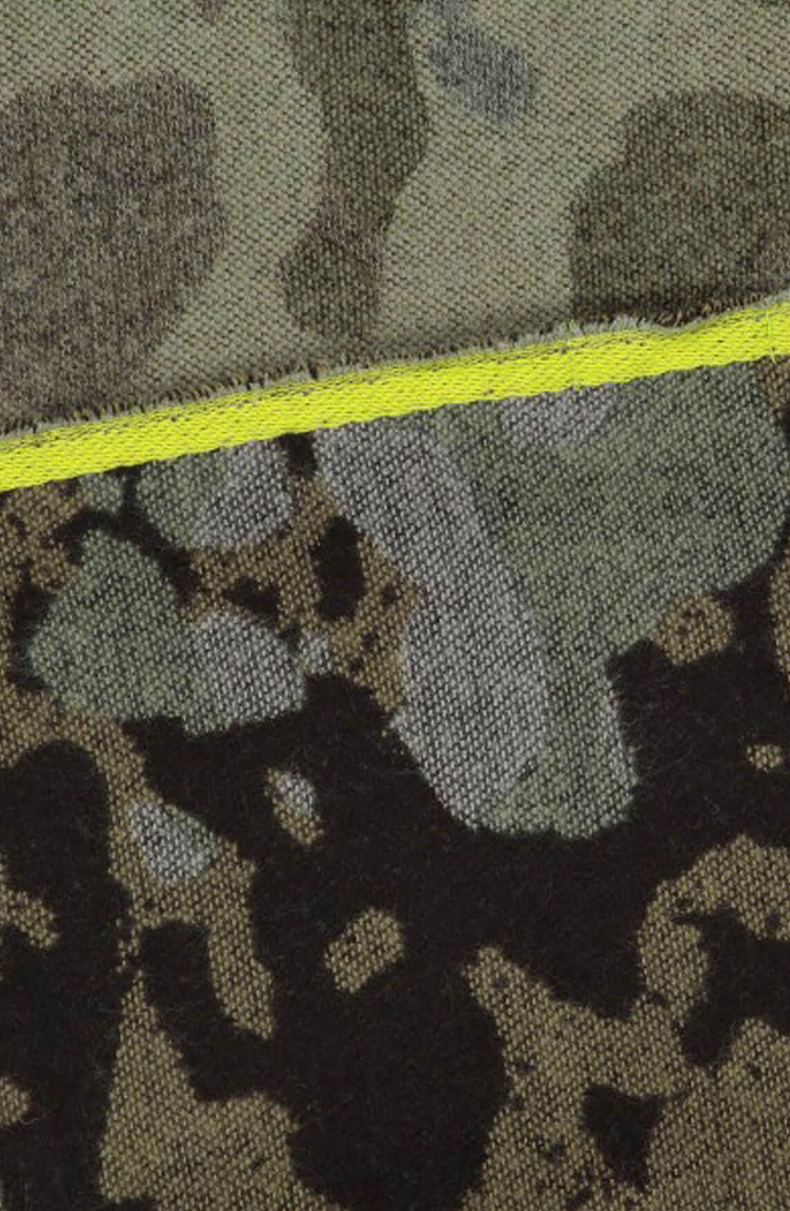 Codello Dames Camouflage shawl groen