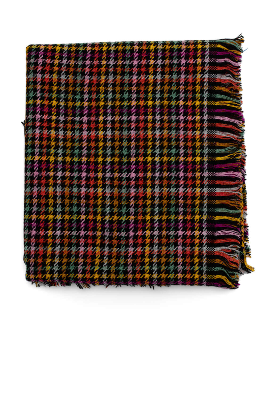 Codello Dames Pied-de-poule shawl zwart