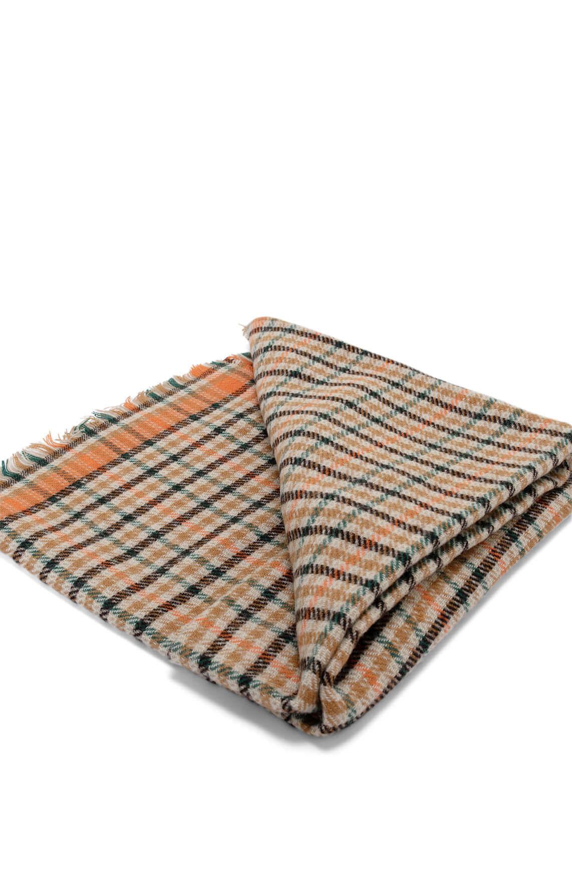 Codello Dames Geruite shawl Bruin