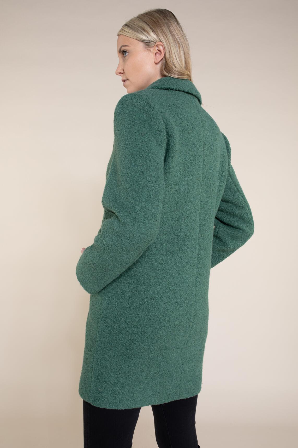 Giacomo Dames Double-breasted mantel groen