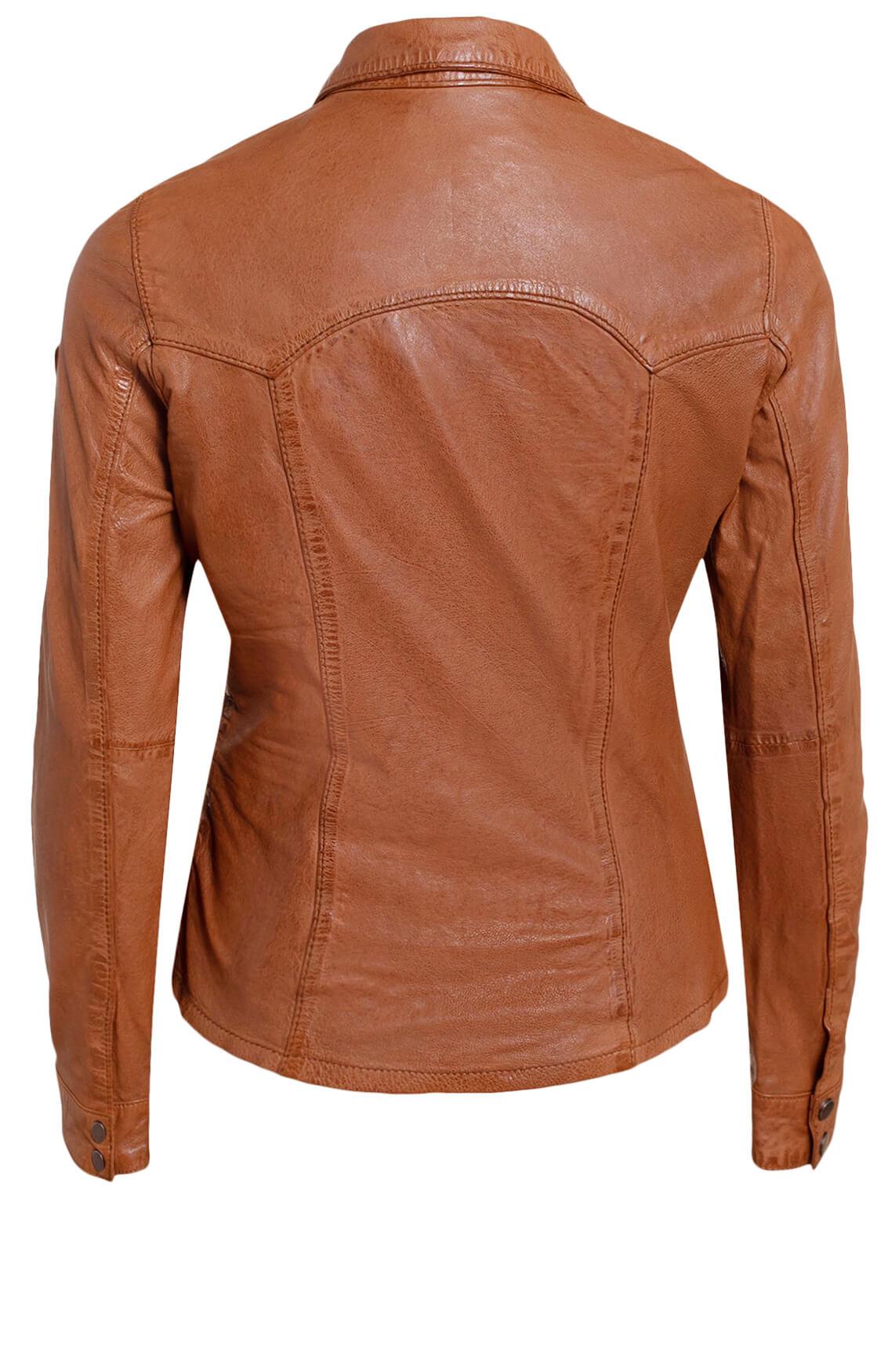 Gipsy Dames Leren blouse Bruin