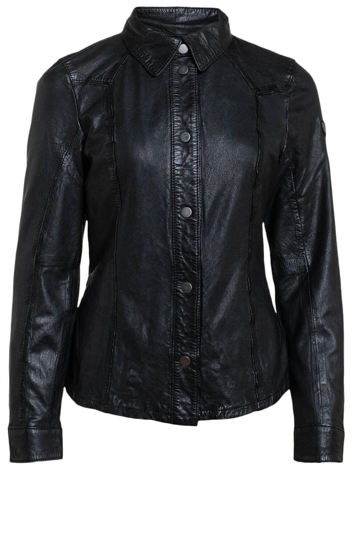 Gipsy Dames Leren blouse zwart