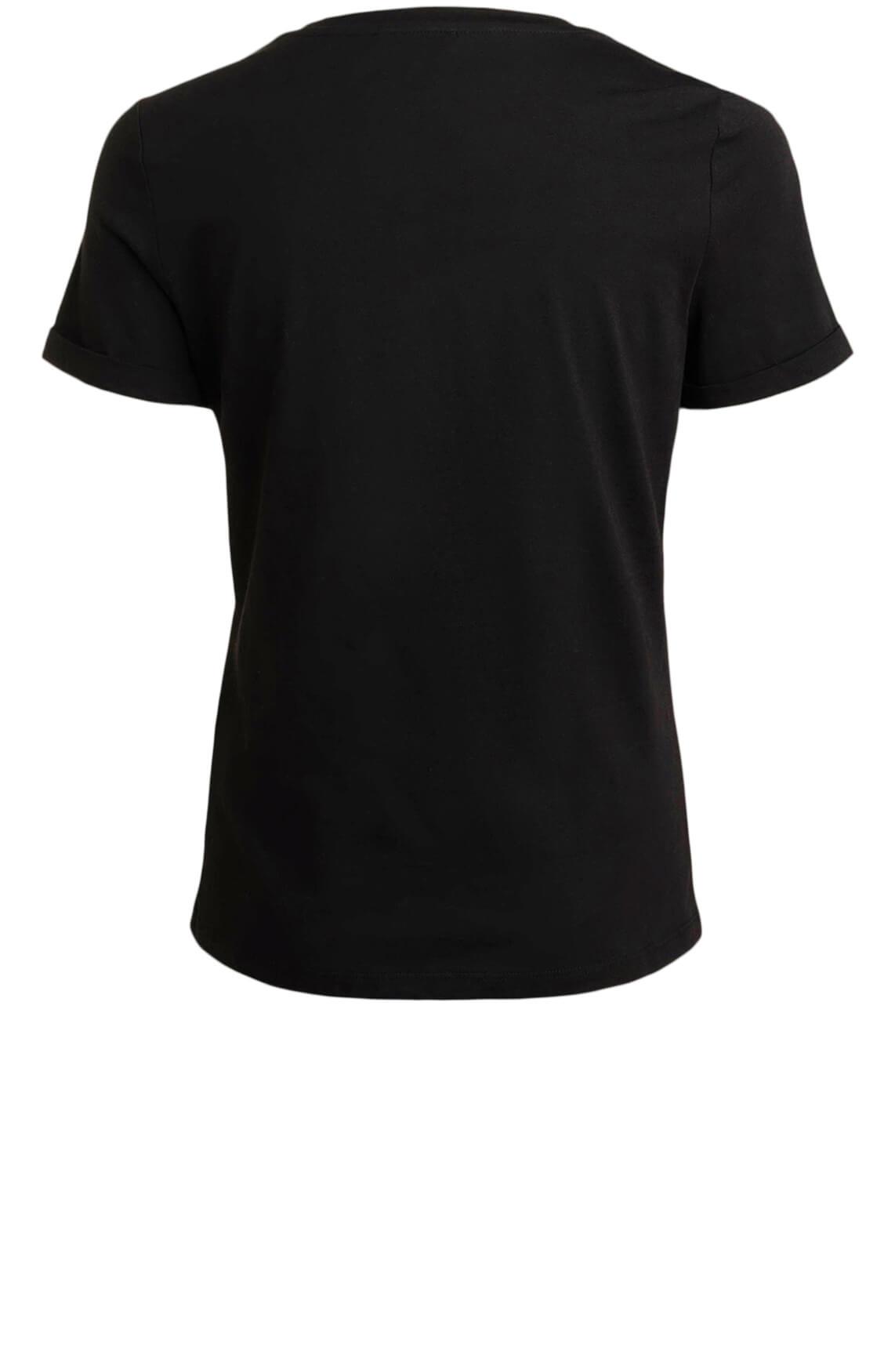 Anna Dames Bliksemschicht shirt zwart