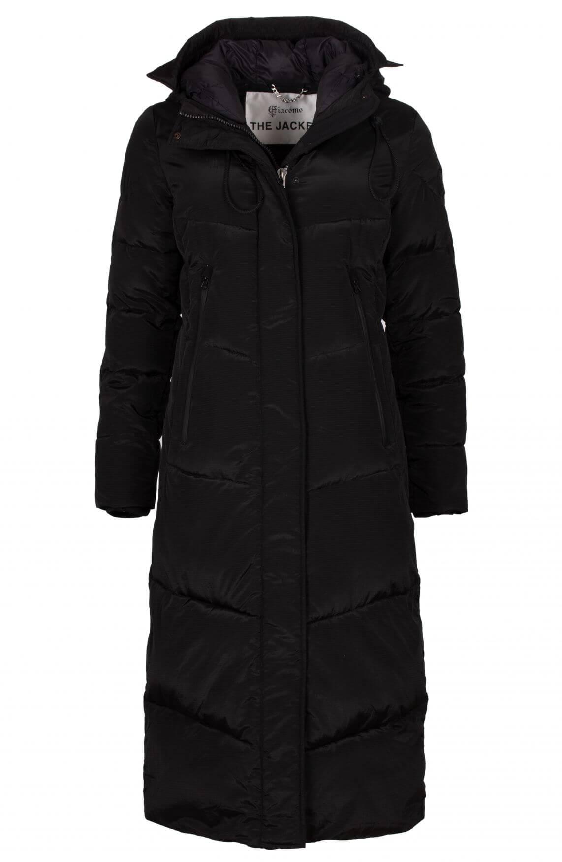 Giacomo Dames Gewatteerde jas zwart