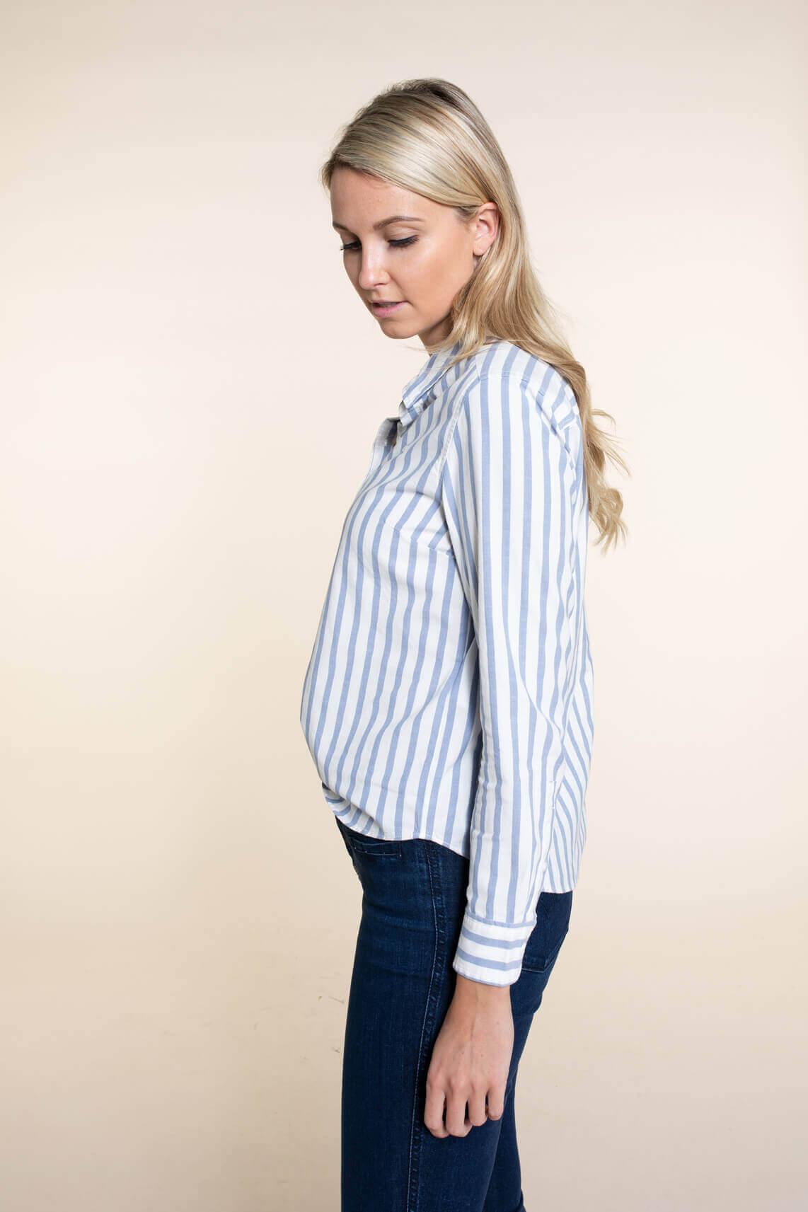 Levi s Dames Gestreepte blouse Blauw