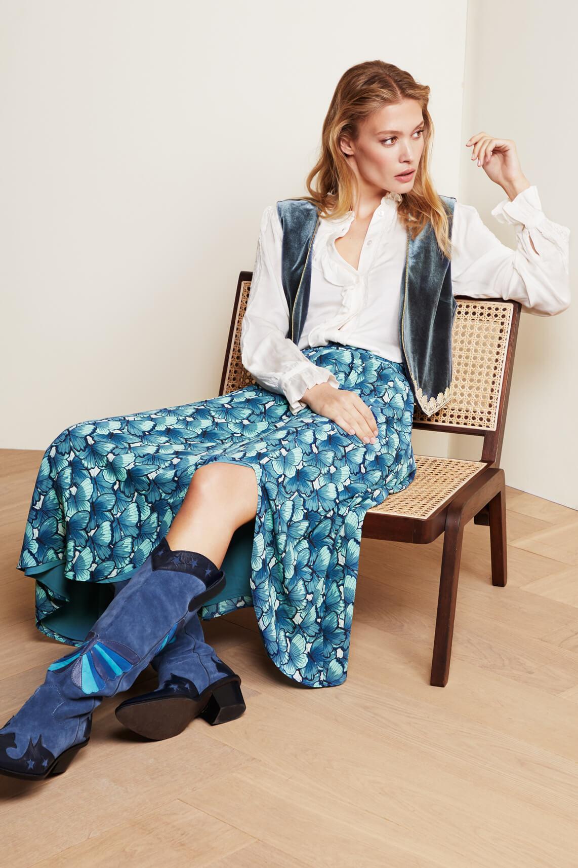 Fabienne Chapot Dames Georgetta rok Blauw