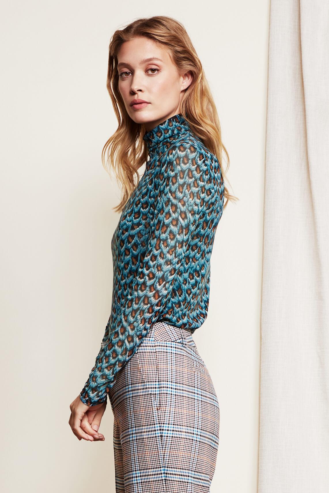 Fabienne Chapot Dames Jane mesh shirt Blauw