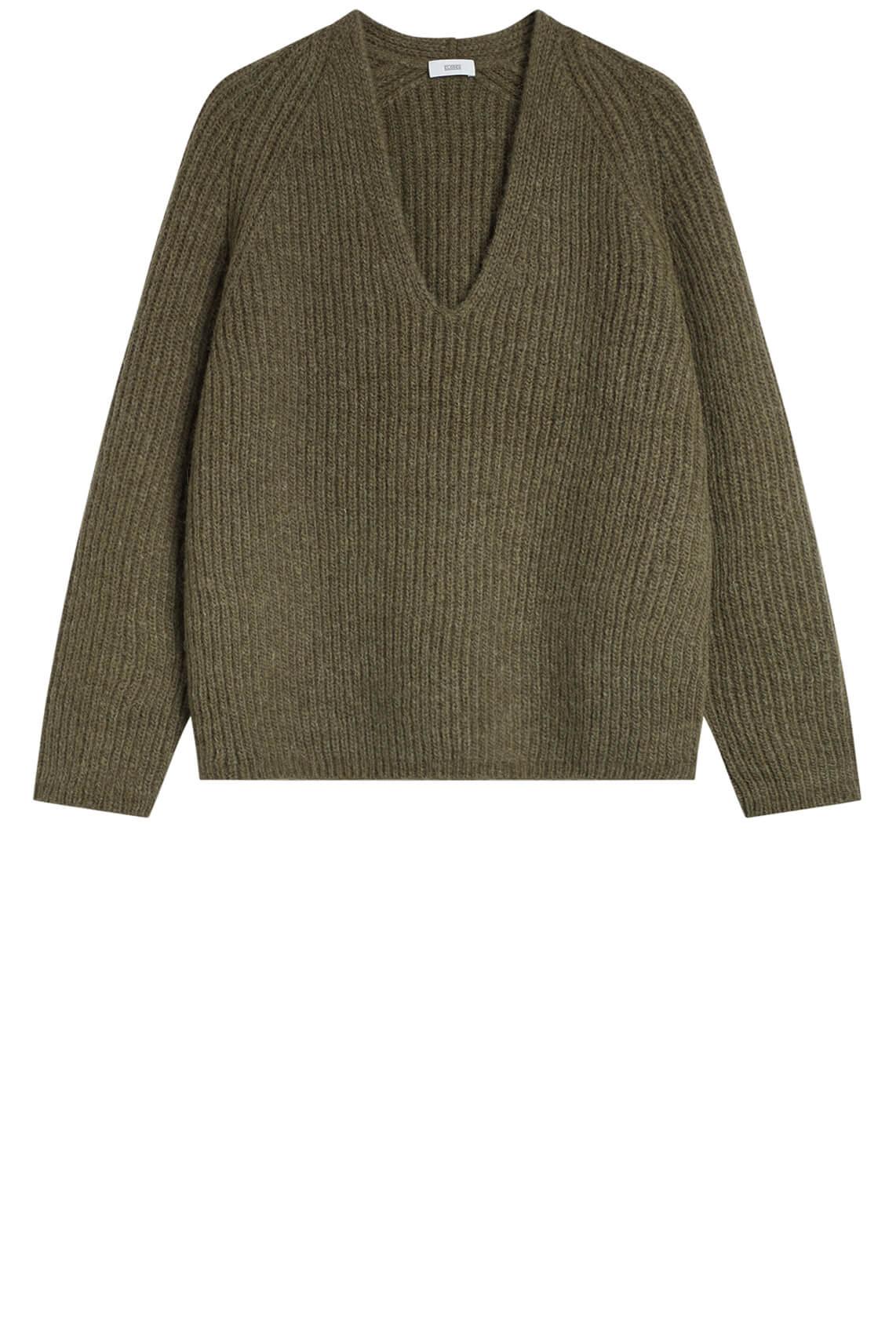 Closed Dames Pullover v-neck groen
