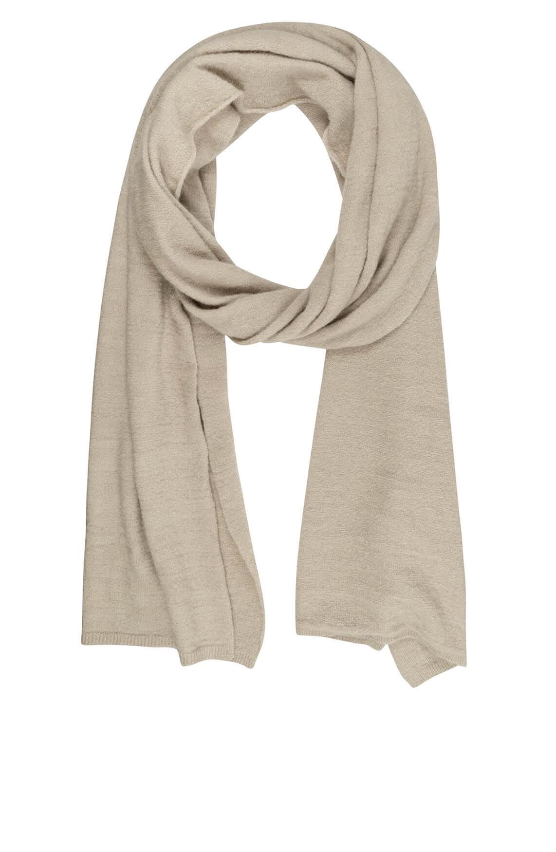 10 Days Dames Wolblend shawl Ecru