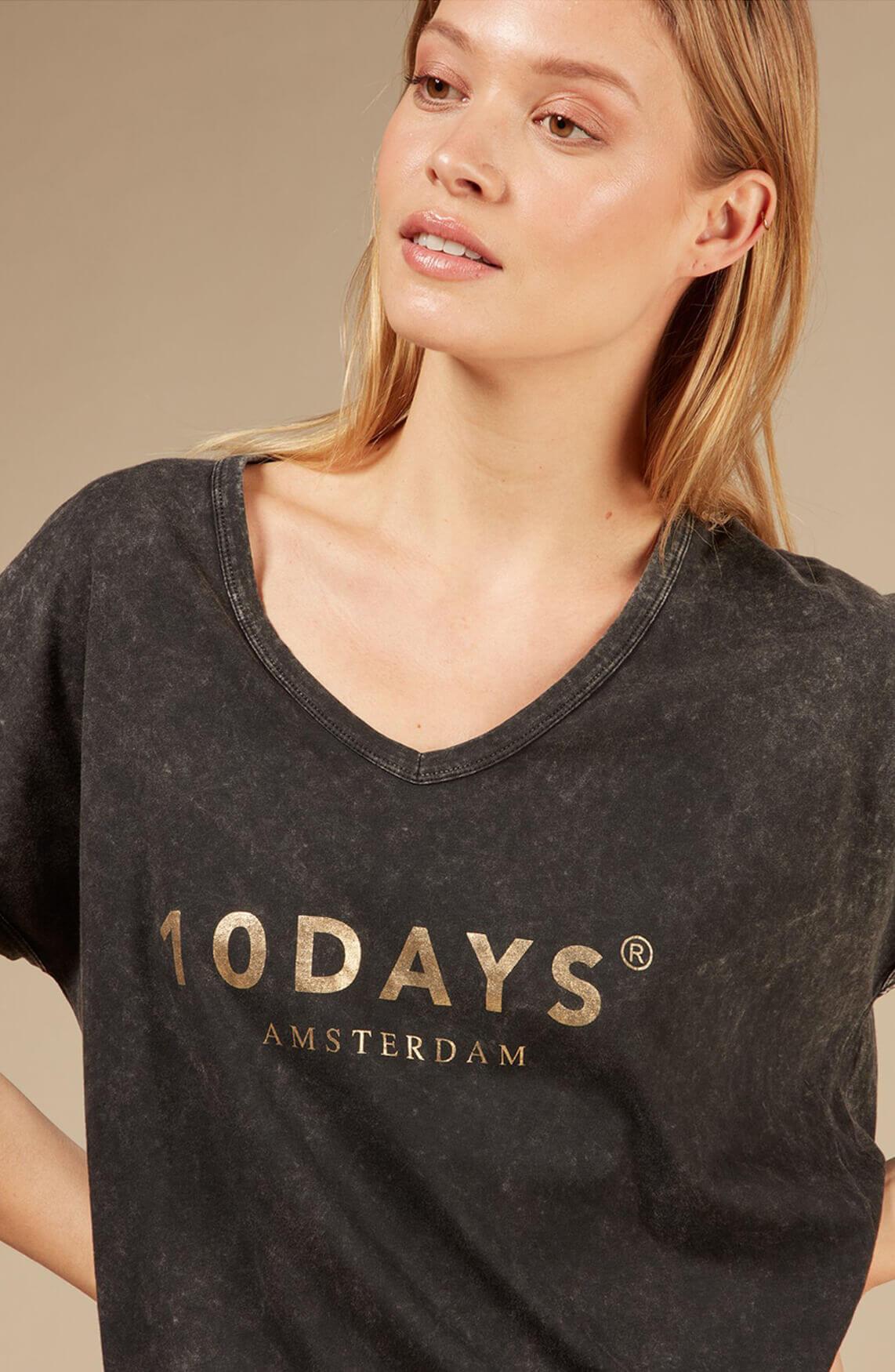 10 Days Dames Faded shirt Grijs