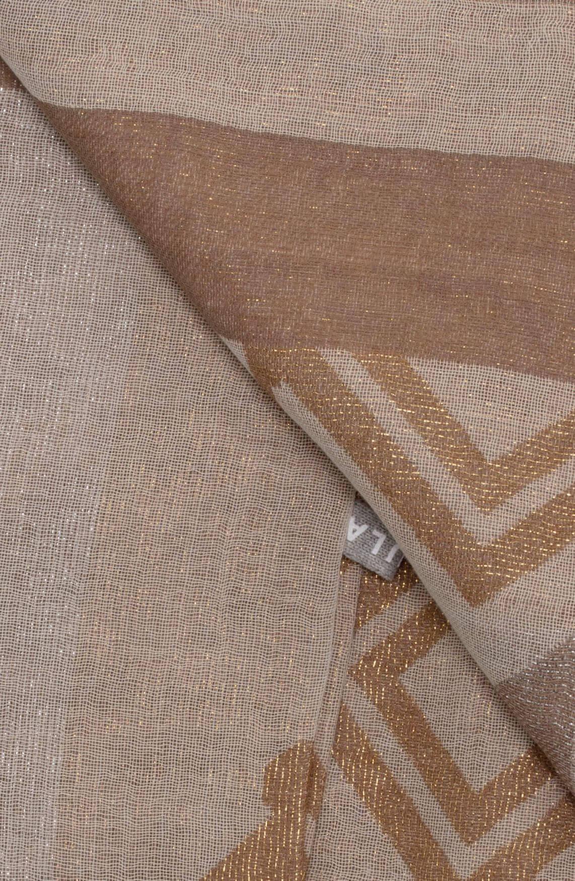 10 Days Dames Aztec shawl Bruin