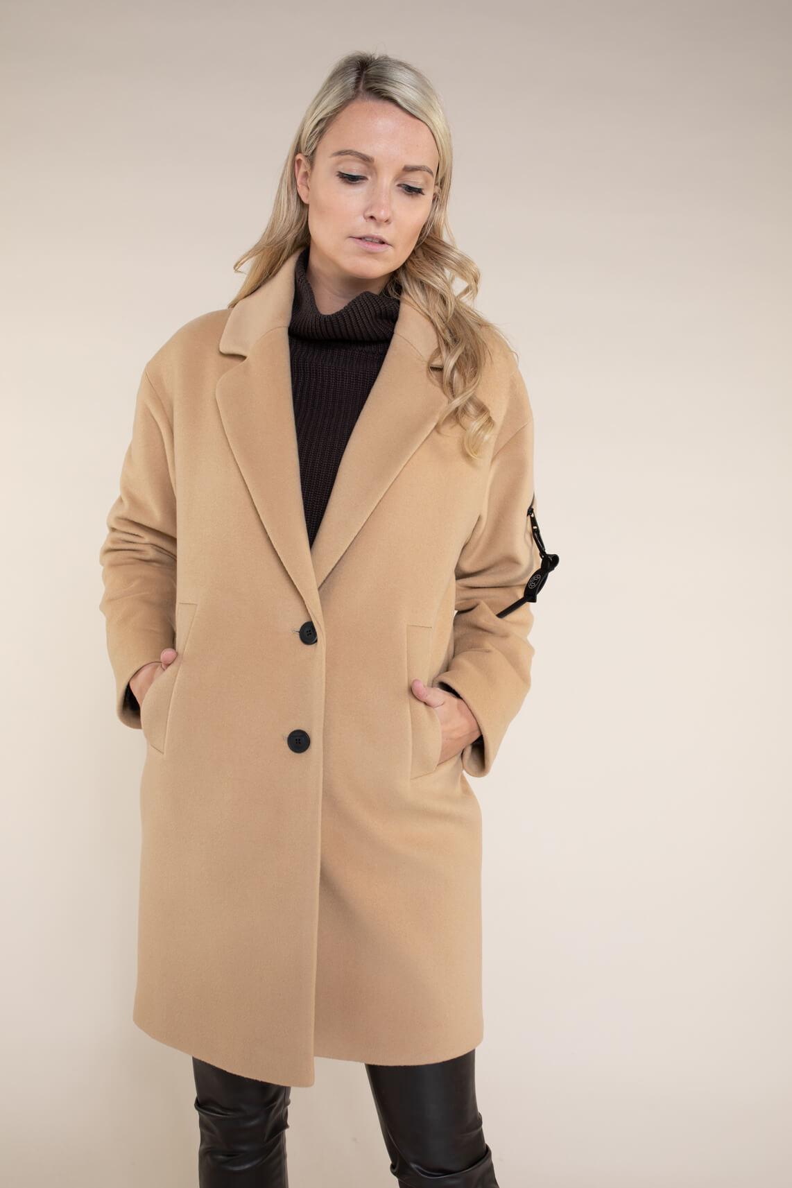 Creenstone Dames Oversized mantel Bruin