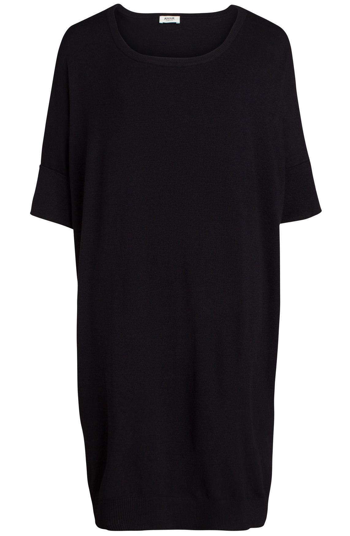 Anna Dames Lange oversized pullover zwart