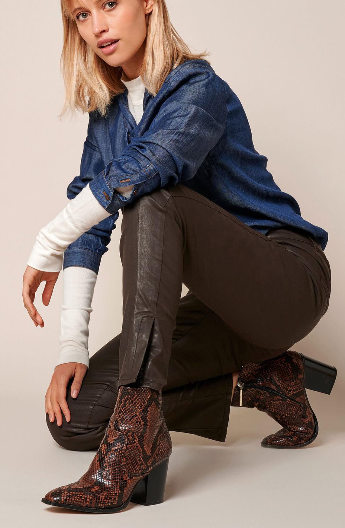 Rosner Dames L30 Antonia gecoate broek Bruin