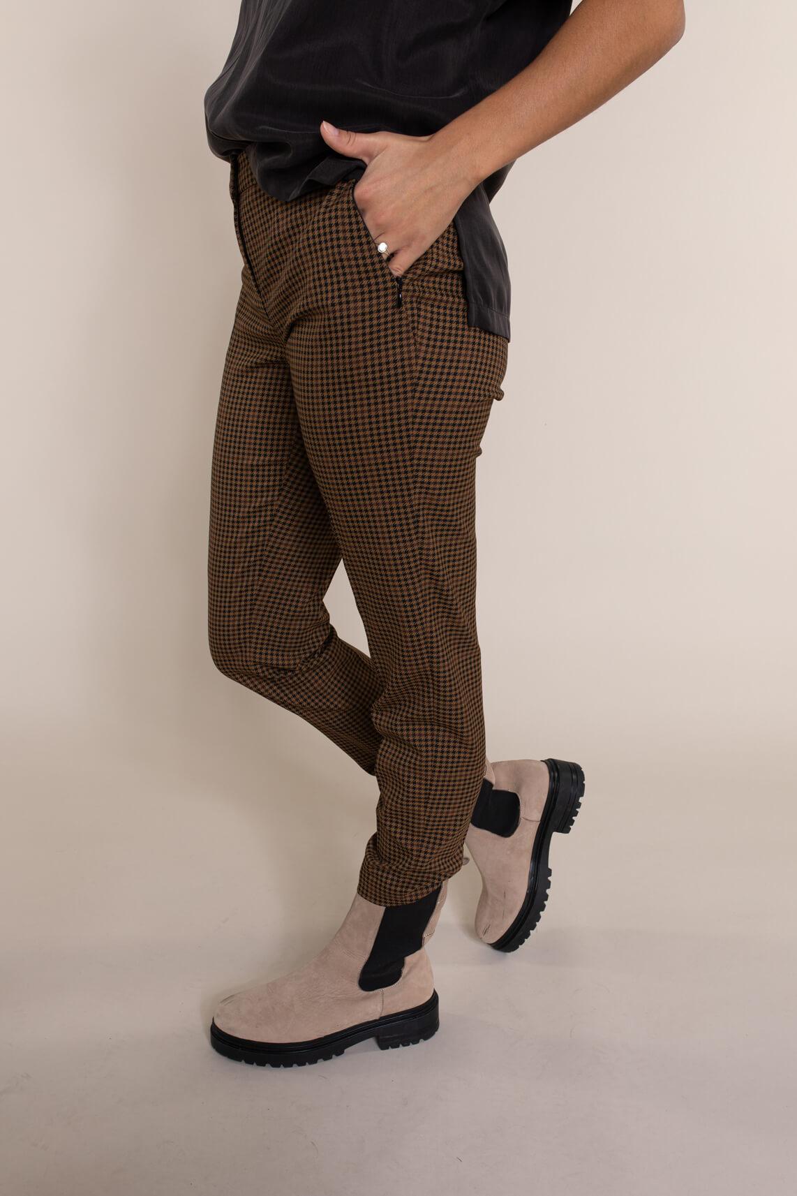 Rosner Dames L28 Alisa geruite pantalon Bruin