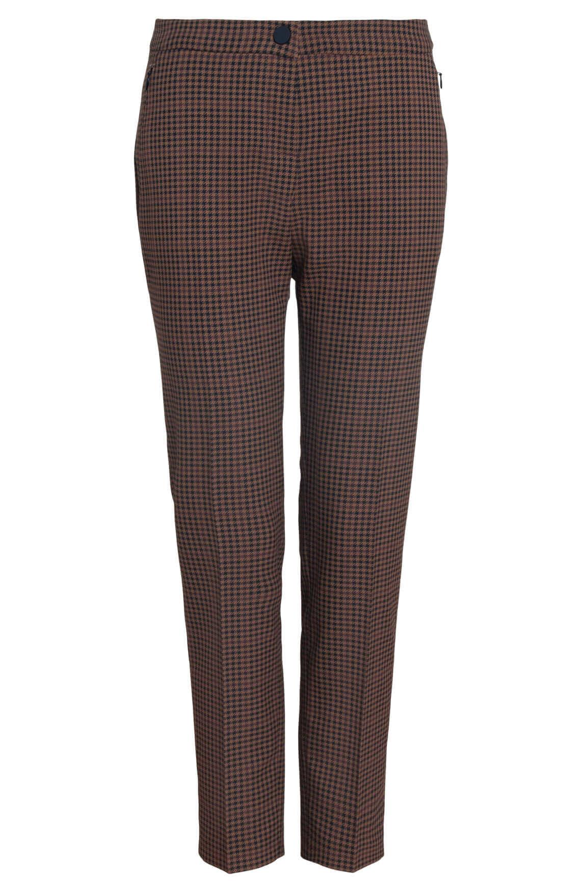 Rosner Dames L30 Alisa geruite pantalon Bruin