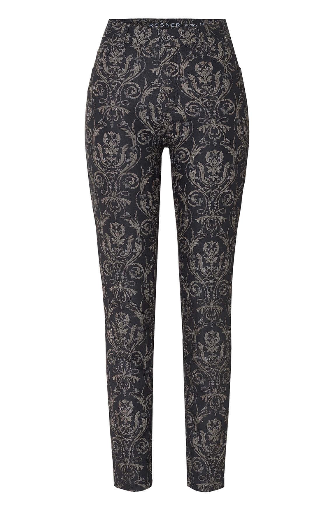 Rosner Dames L30 Audrey broek met print zwart