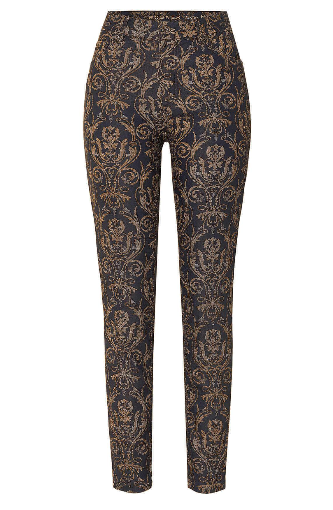 Rosner Dames L30 Audrey broek met print Bruin