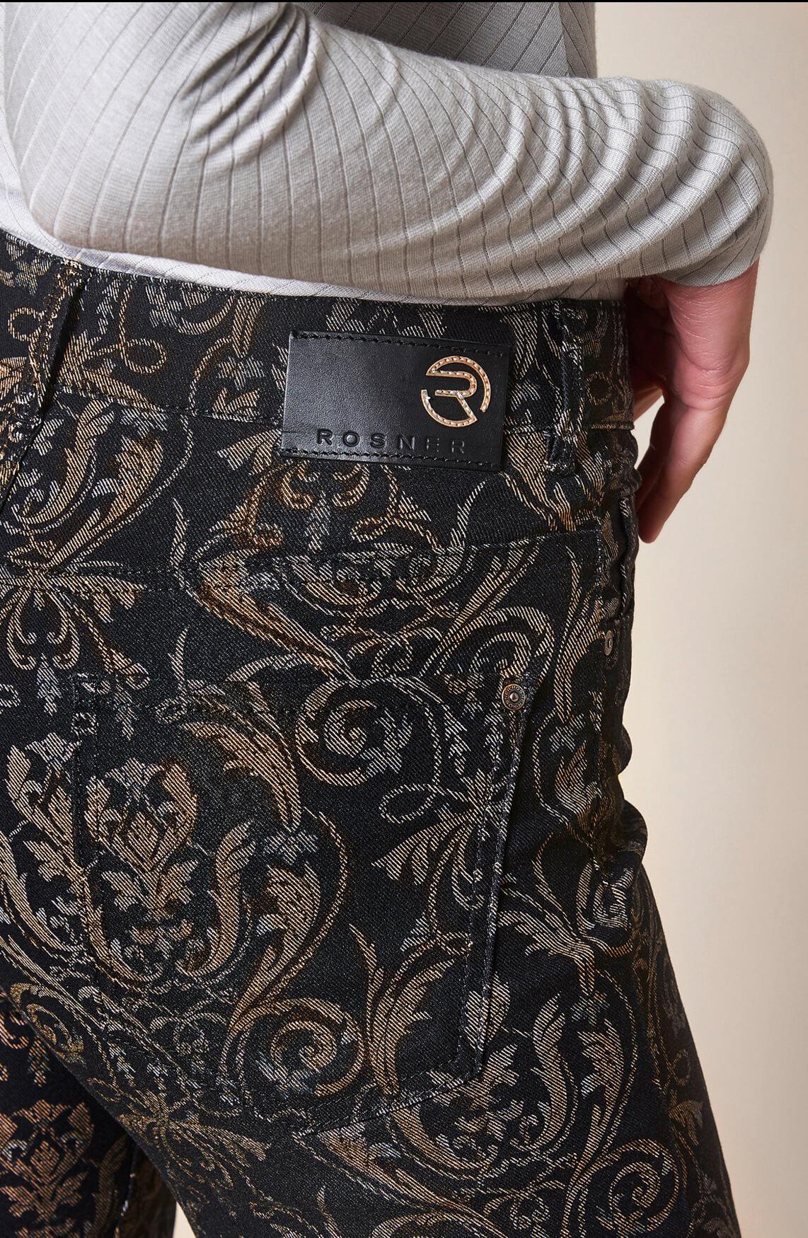 Rosner Dames L32 Audrey broek met print Bruin