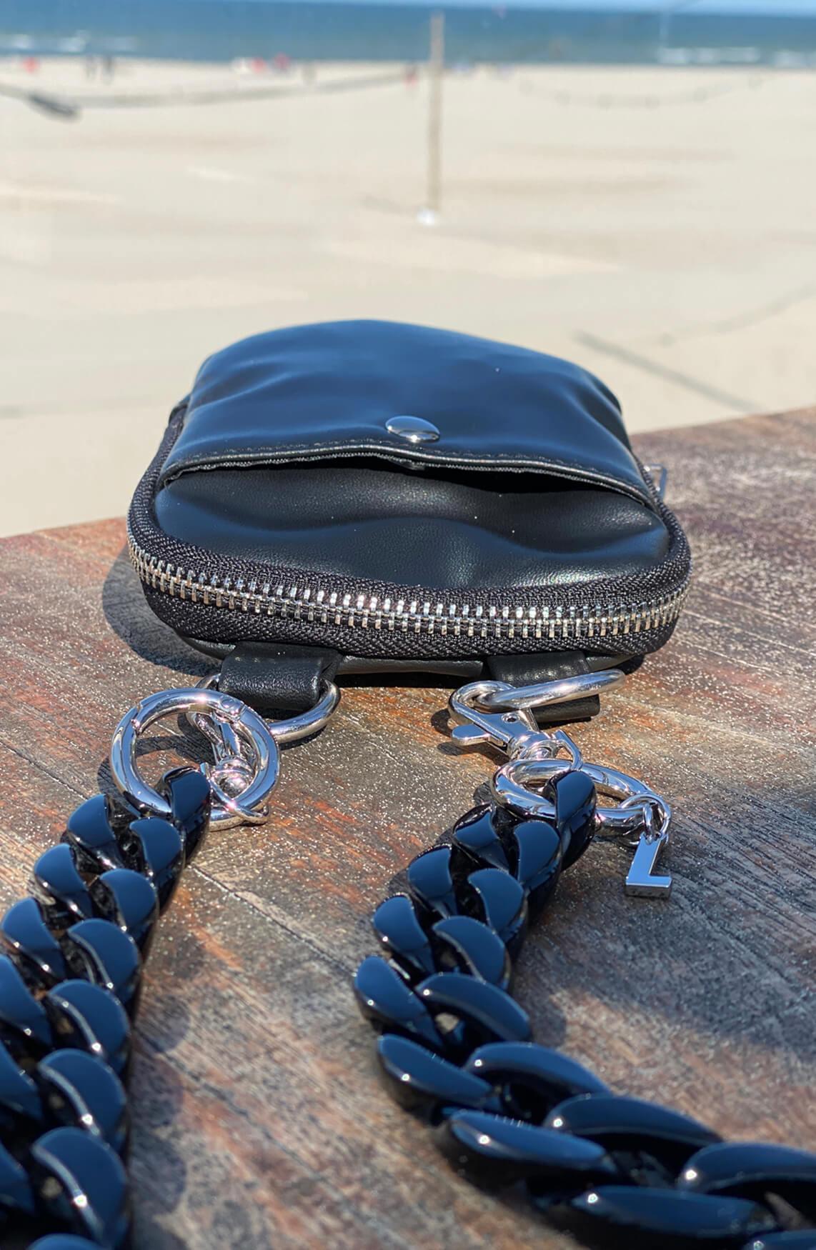 Lins. Amsterdam Dames Phone bag zwart