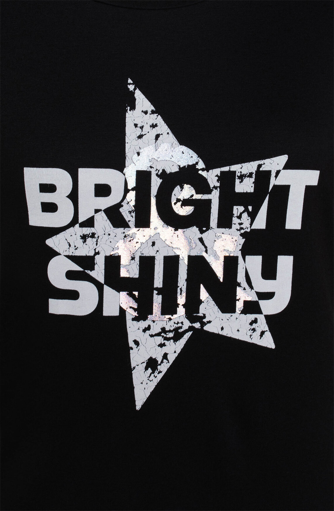 Anna Dames Bright & Shiny shirt zwart