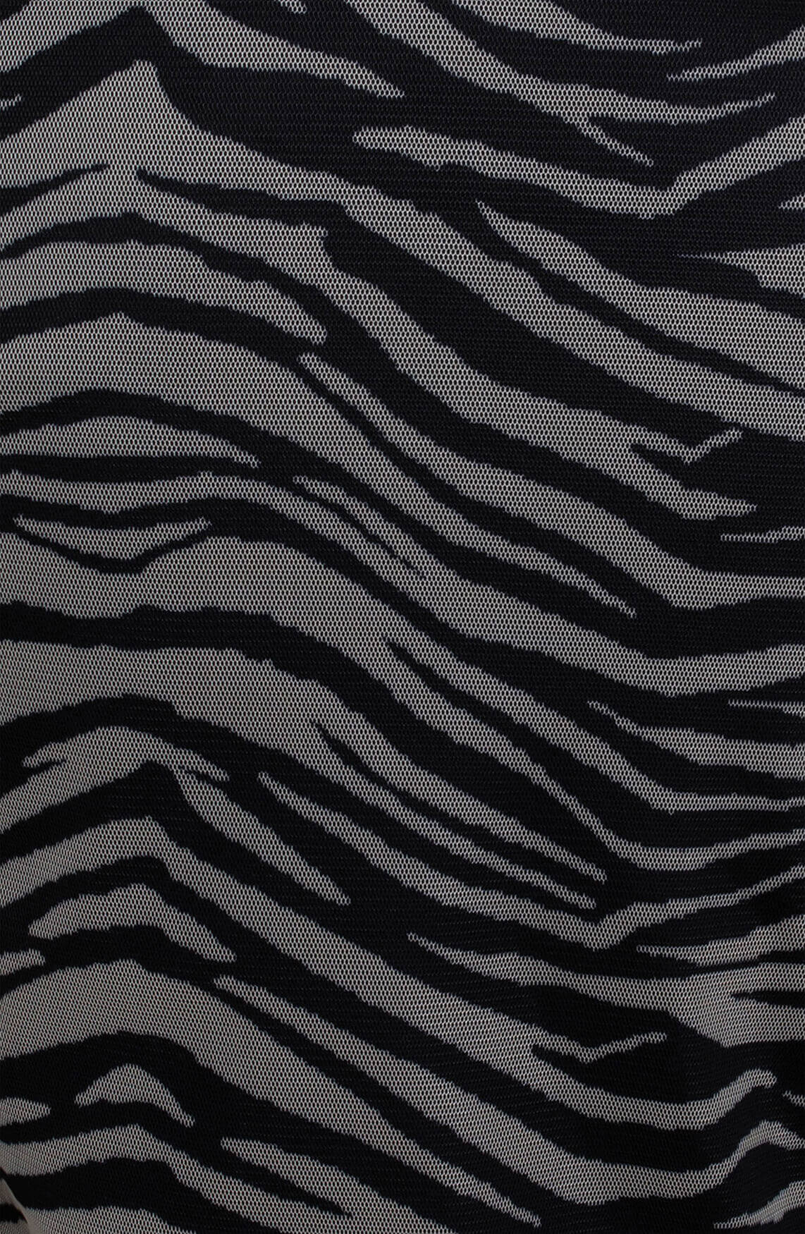 Anna Dames Mesh shirt met pofmouw zwart