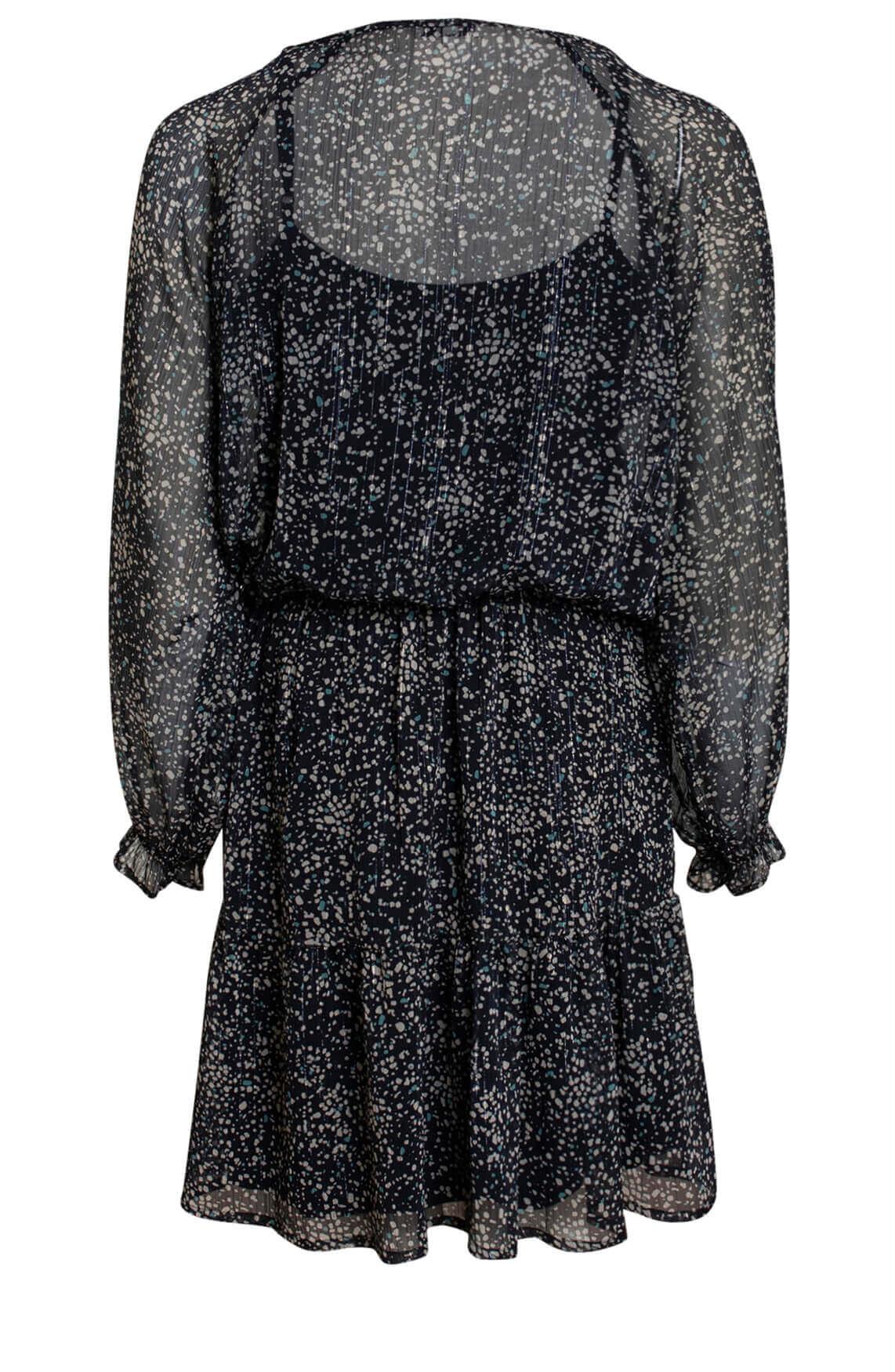 Anna Dames Chiffon jurk zwart