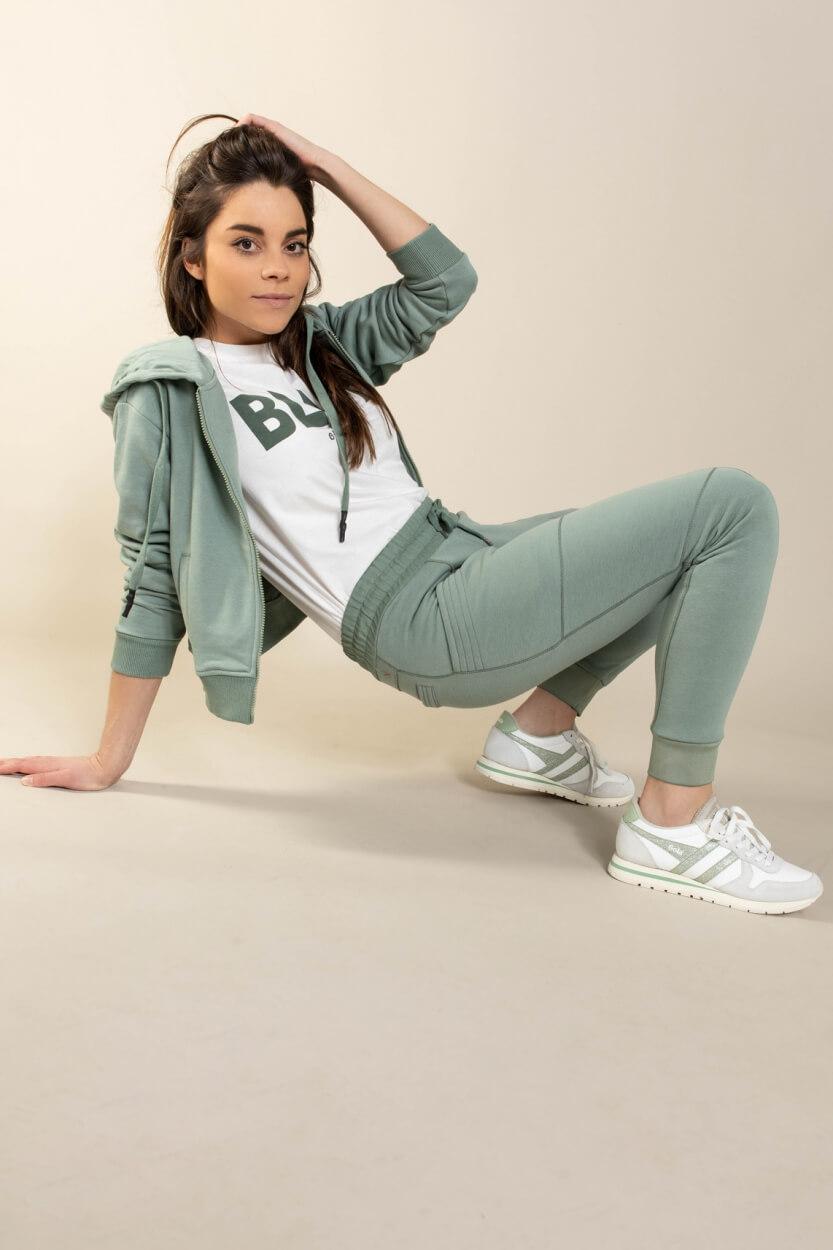 Anna Blue Dames Sporty jogger Groen