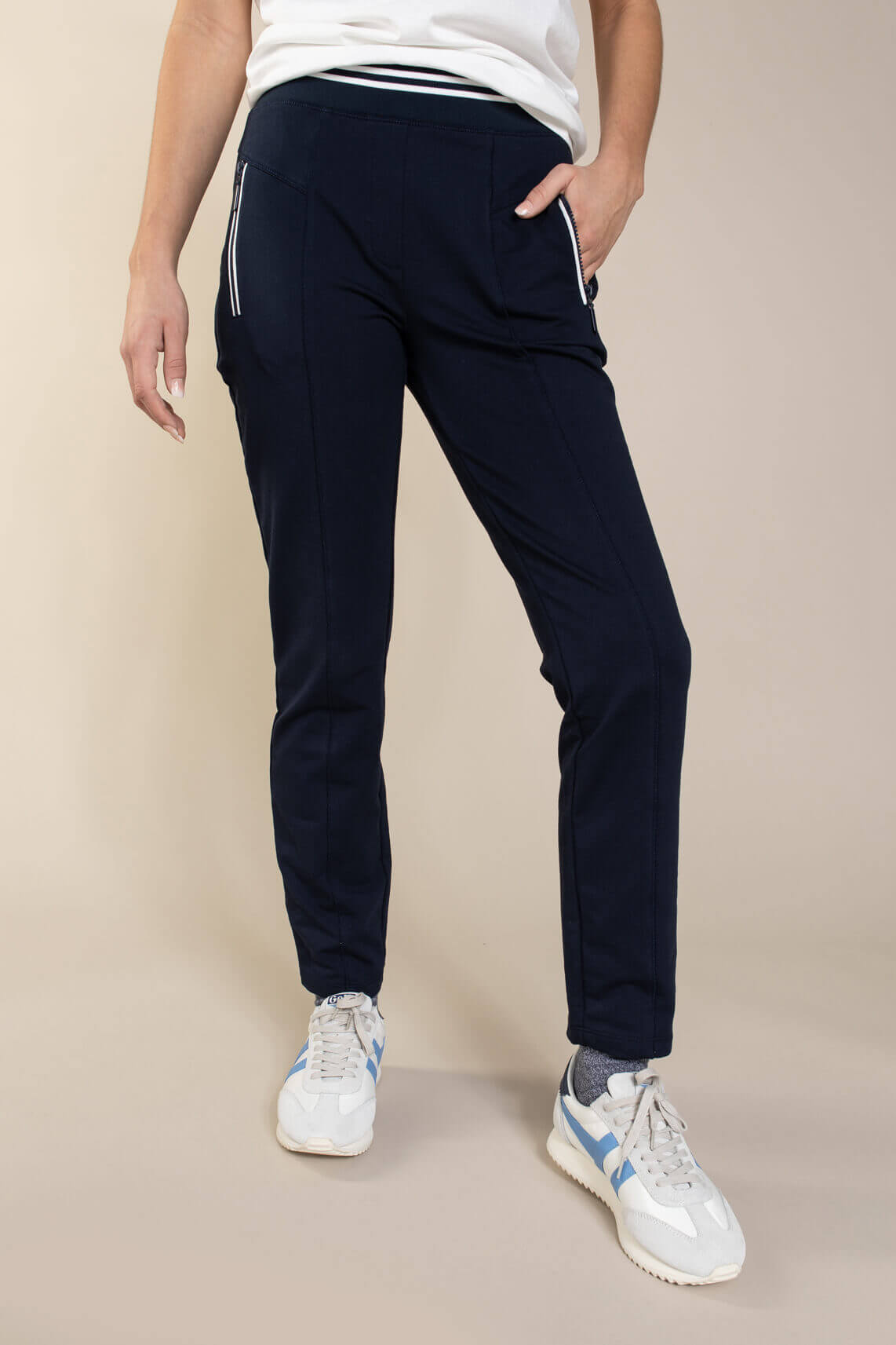 Anna Blue Dames Sweatbroek Blauw