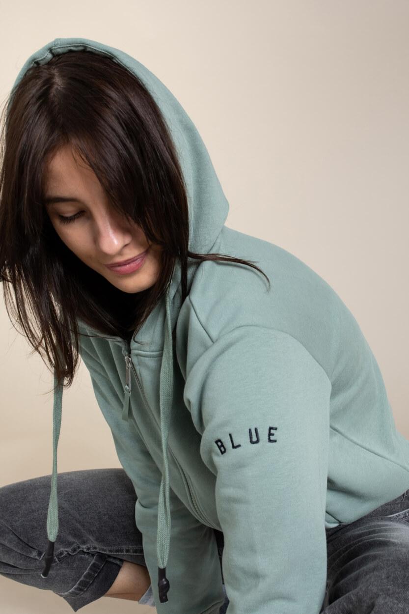 Anna Blue Dames Sweatvest Groen