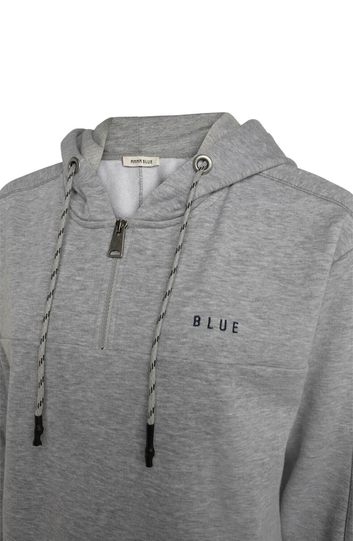 Anna Blue Dames Sweater met capuchon Grijs