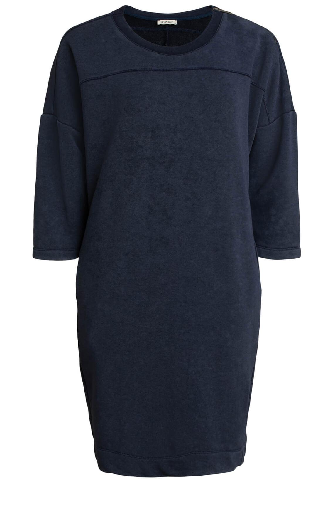 Anna Blue Dames Washed sweatjurk Blauw